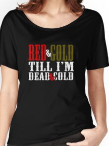Red and Golg Dead and Cold Women's Relaxed Fit T-Shirt
