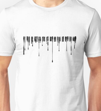 Splatter Piano (Black) Unisex T-Shirt