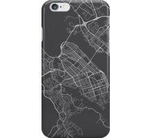 Halifax Map, Canada - Gray iPhone Case/Skin