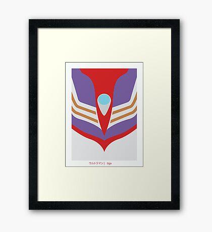 Ultraman Tiga Framed Print