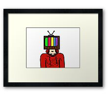 TV Boy Framed Print