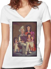 Fischoeder Family Portrait Women's Fitted V-Neck T-Shirt