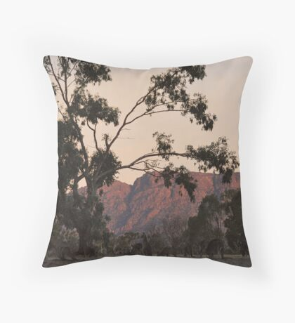 Kangaroos at the Mountain Side by Lorraine McCarthy Throw Pillow