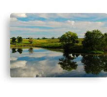 Summer Reflections on an Iowa Pond Canvas Print