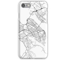 Halifax Map, Canada - Black and White iPhone Case/Skin