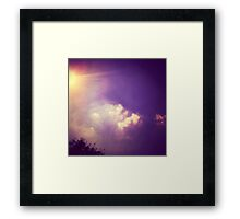 pixel clouds over Berlin  Framed Print