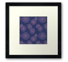 Cacti Blooms Midnight Framed Print