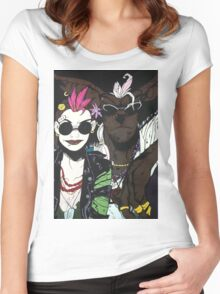 Tank Girl and Booga Women's Fitted Scoop T-Shirt