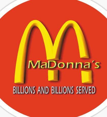 madonna's  (mcDonalds) Sticker