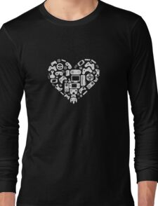 Video Game Heart Funny Long Sleeve T-Shirt