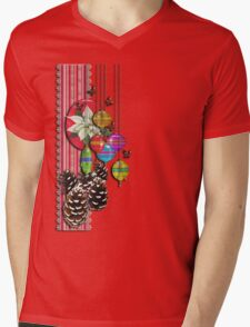 pine cones and butterflies Mens V-Neck T-Shirt