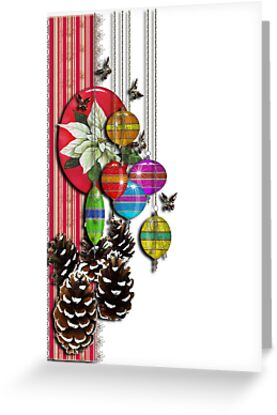 pine cones and butterflies by geot
