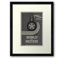 World of Motion Framed Print