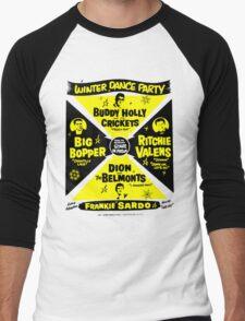 Buddy Holly's Winter Dance Party Men's Baseball ¾ T-Shirt