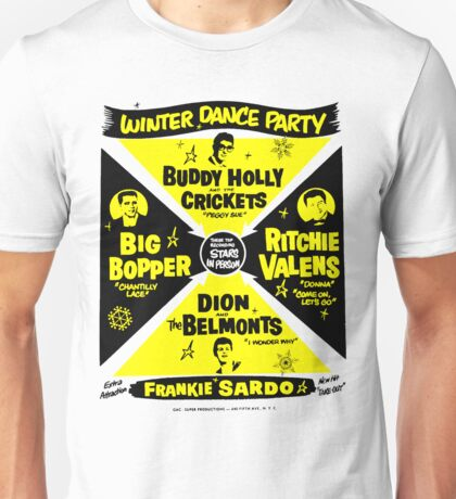 Buddy Holly's Winter Dance Party Unisex T-Shirt