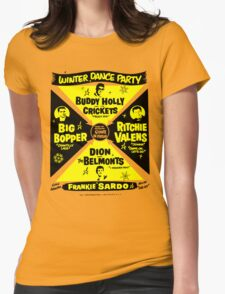 Buddy Holly's Winter Dance Party Womens Fitted T-Shirt