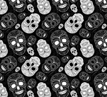 Sugar Skulls Black and White by SpiceTree