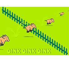 Jumping Pigs VRS2 Photographic Print