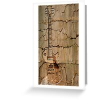guitar cracks Greeting Card