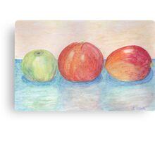 Apple Orange and Mango Watercolor  Canvas Print