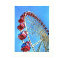 As the big wheel turns Art Print