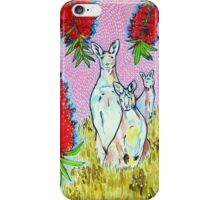 Kangaroos with Bottlebrush iPhone Case/Skin