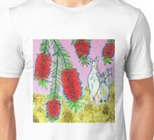 Kangaroos with Bottlebrush Unisex T-Shirt