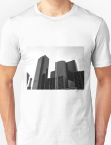 Black And White Cityscape 3  T-Shirt