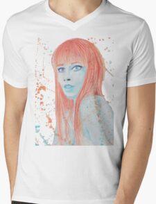 Quandry - Watercolor and Prismacolor Mens V-Neck T-Shirt
