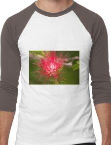 BottleBrush Flower Men's Baseball ¾ T-Shirt