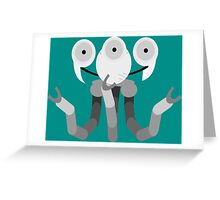Robo Curie Greeting Card