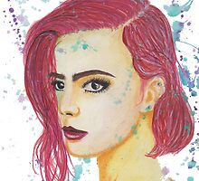 Skittles - Colorful Watercolor Portrait by taylorstarnes