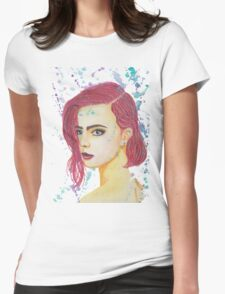 Skittles - Colorful Watercolor Portrait Womens Fitted T-Shirt