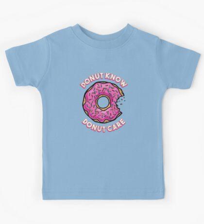 Donut Know, Donut Care Kids Tee
