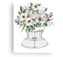 Corset and Flowers Canvas Print