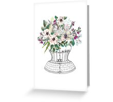 Corset and Flowers Greeting Card