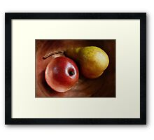 Pears Again in a Copper Bowl Framed Print