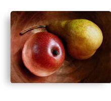 Pears Again in a Copper Bowl Canvas Print
