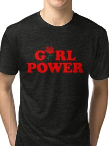 Girl Power Rose Cute Tri-blend T-Shirt
