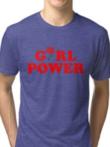 Girl Power Rose Cute Tri-blend T-Shirt