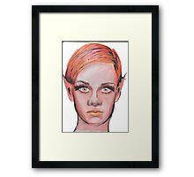 Elven Twiggy Ink Portrait Framed Print