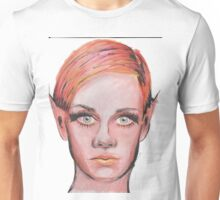 Elven Twiggy Ink Portrait Unisex T-Shirt