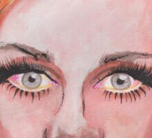 Elven Twiggy Ink Portrait Sticker