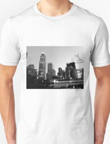 Black And White Cityscape 7  T-Shirt