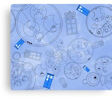 Police Box with Geometric Shapes Canvas Print