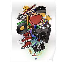 I Love Retro Poster