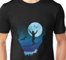 Moonlight slackline Unisex T-Shirt