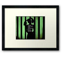 Harley Quinn Green Framed Print