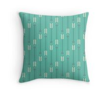 Arrows_Turquoise Throw Pillow