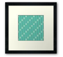 Arrows_Turquoise Framed Print